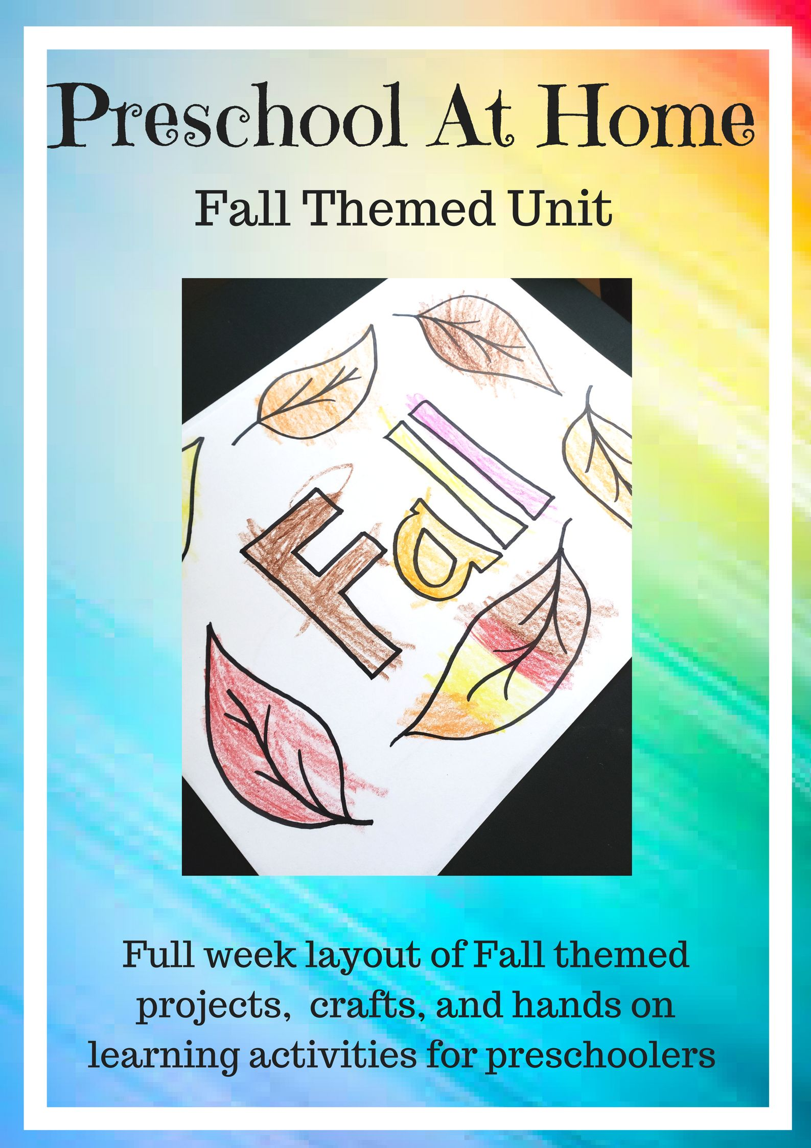 Preschool At Home Week 6 Changing Of Seasons Fall Unit