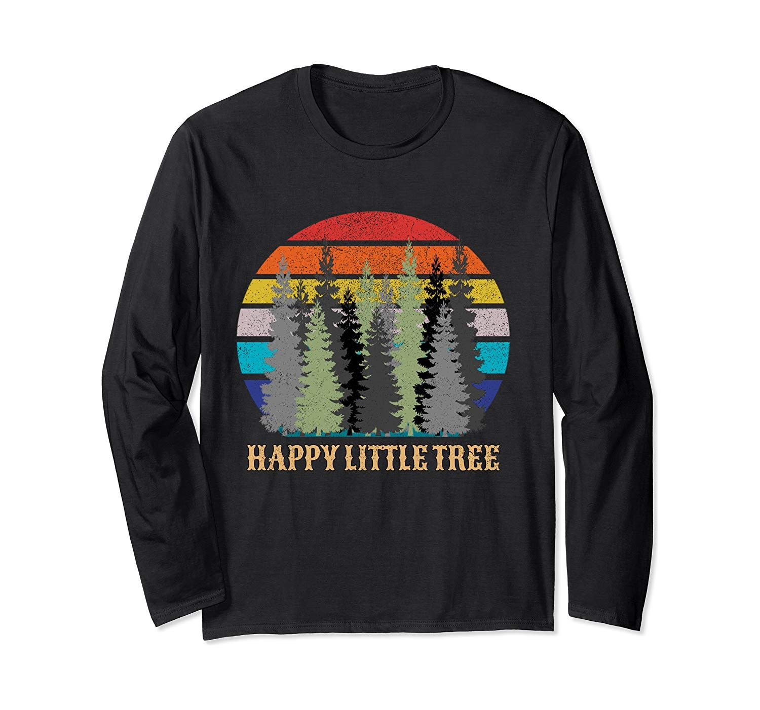 Happy Little Tree Earth Day Bob Style Men Boy Kids Gift Long Sleeve T-Shirt #mensstyle