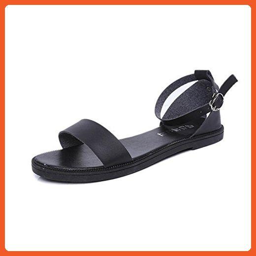 f78fbc865970a LEERYA Sandals For Women Flat Shoes Comfortable Ladies (7.5, Black ...