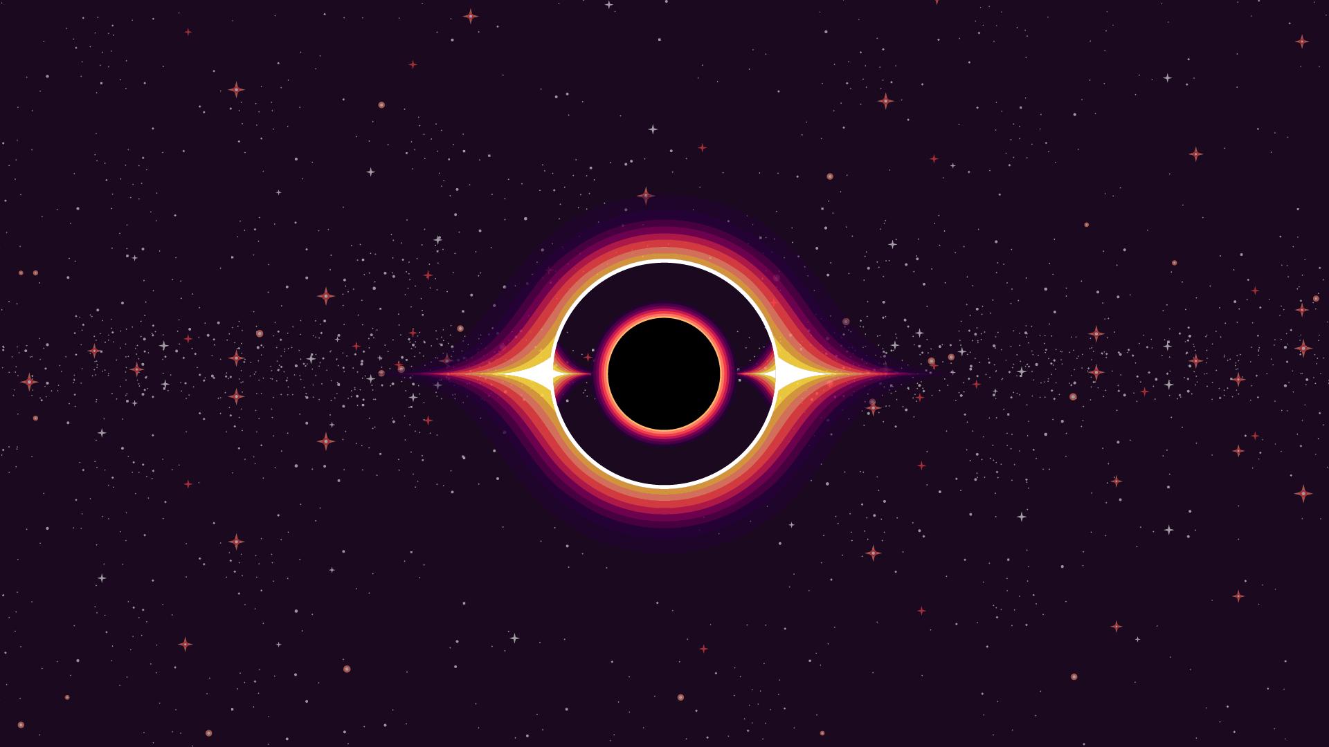 Black hole Kurzgesagt style[1920 x 1080] | Black hole ...