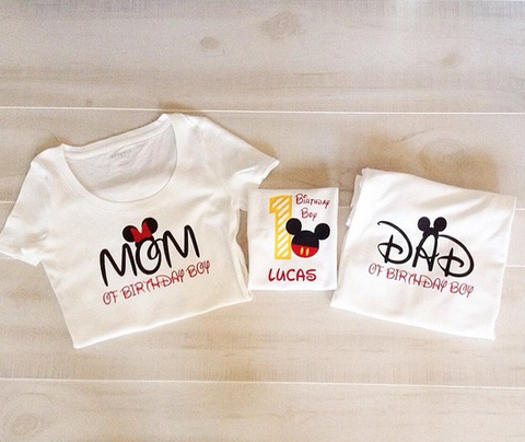 Disney Birthday Boy Family Shirt