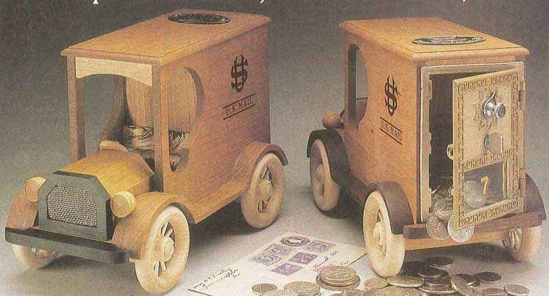 Toys For Trucks Greenville : Mail truck bank plan woodworkersjournal playhouse