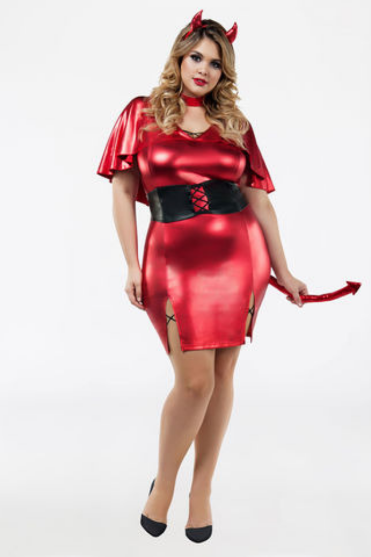 4bec55d147030 Plus size sexy red devil dress halloween costume Ashley Stewart Halloween  Party Ideas.  afflink Sexy Fashion for Plus Size Women