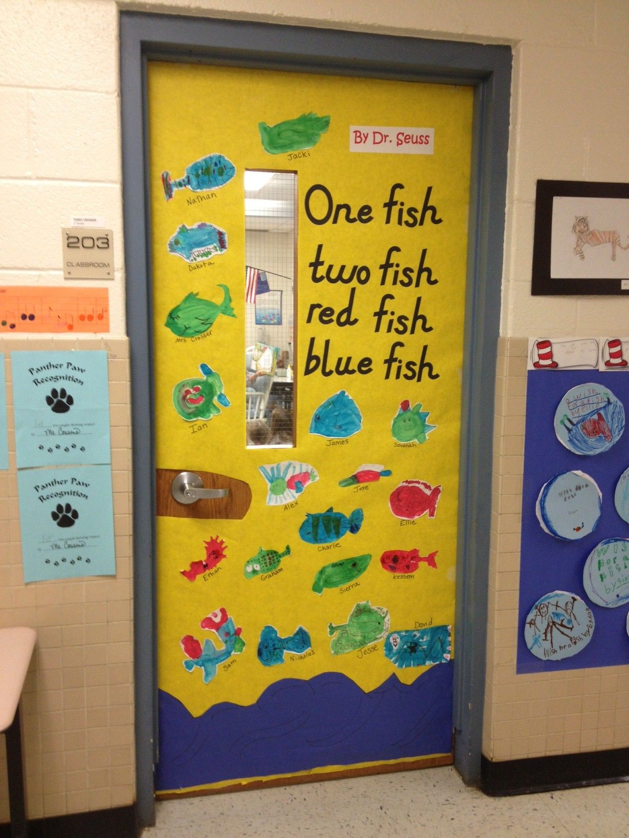 One Fish Two Fish Red Fish Blue Fish by Dr. Seuss. Door decorations ...