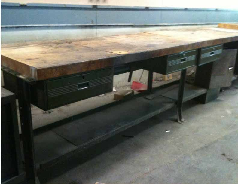 Awesome BUTCHER BLOCK KITCHEN ISLAND STEAMPUNK INDUSTRIAL ANTIQUE DECO