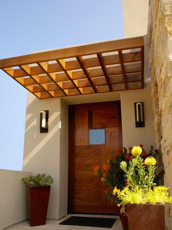 Modern House Exterior Design Front Door Ideas Wood Facade Wooden Garage Door: Awesome Modern House With Natural Feel Ideas: Marvelous Mediterranean Entry Decor Wood Door
