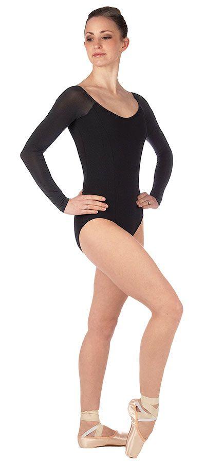 a8e67357231f Capezio V Back Long Sleeve Leotard - Black | Dance | Long sleeve ...