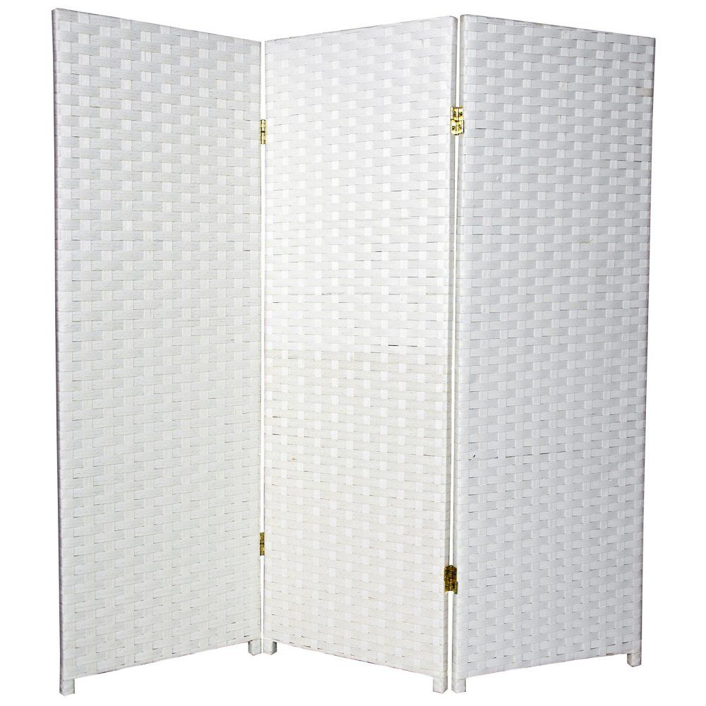 Woven Fiber Low White Room Divider 48 Inch The 4 ft Tall Woven