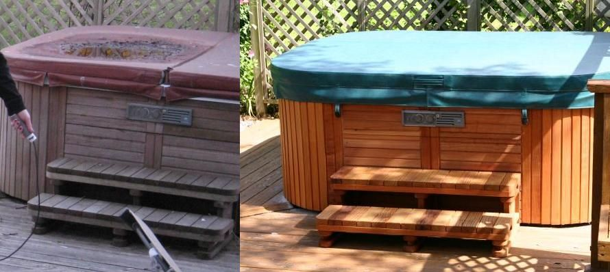 Hot Tub Surround Hot Tub Cabinet Surround Carpentry Diy