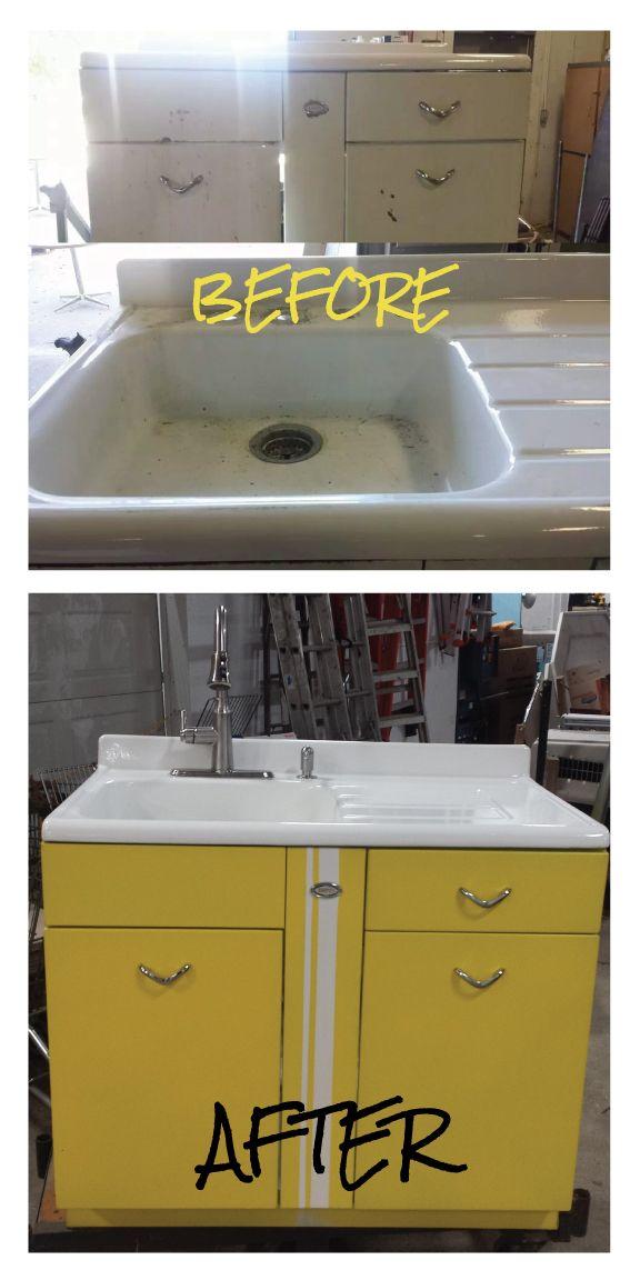 Beautiful vintage sink...start to finish!