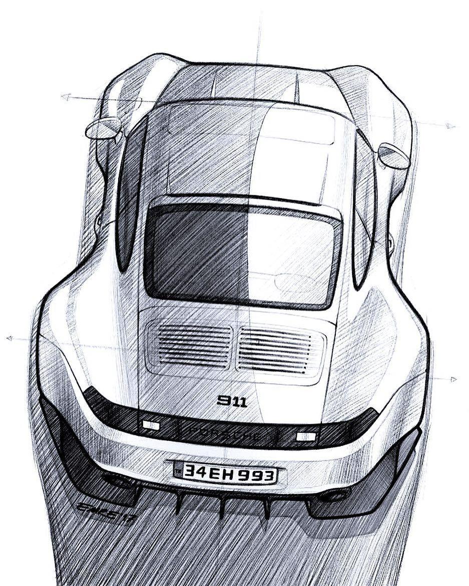 Ausmalbilder Autos Porsche Panamera : 993 Sketch Ipadpro Procreate Porsche 911 Widebody Dreamcar