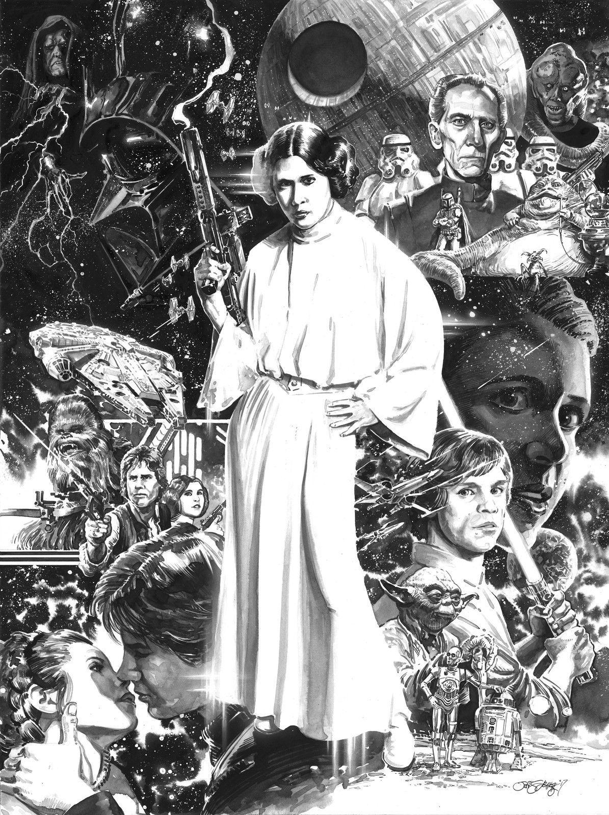 Jabba The Hutt Fucks Princess Leia Pretty star wars princess leia original pen & ink illustrationjeff