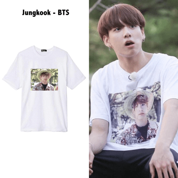 Jungkook Hawaiian Tee Bts Shirt Bts Inspired Outfits Bts Clothing