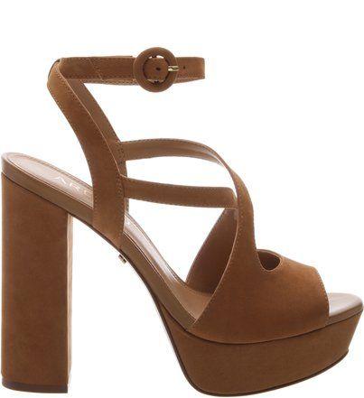 07806cdda Sandália Nobuck Meia Pata Alta Castor   原版鞋 in 2019   Shoes ...