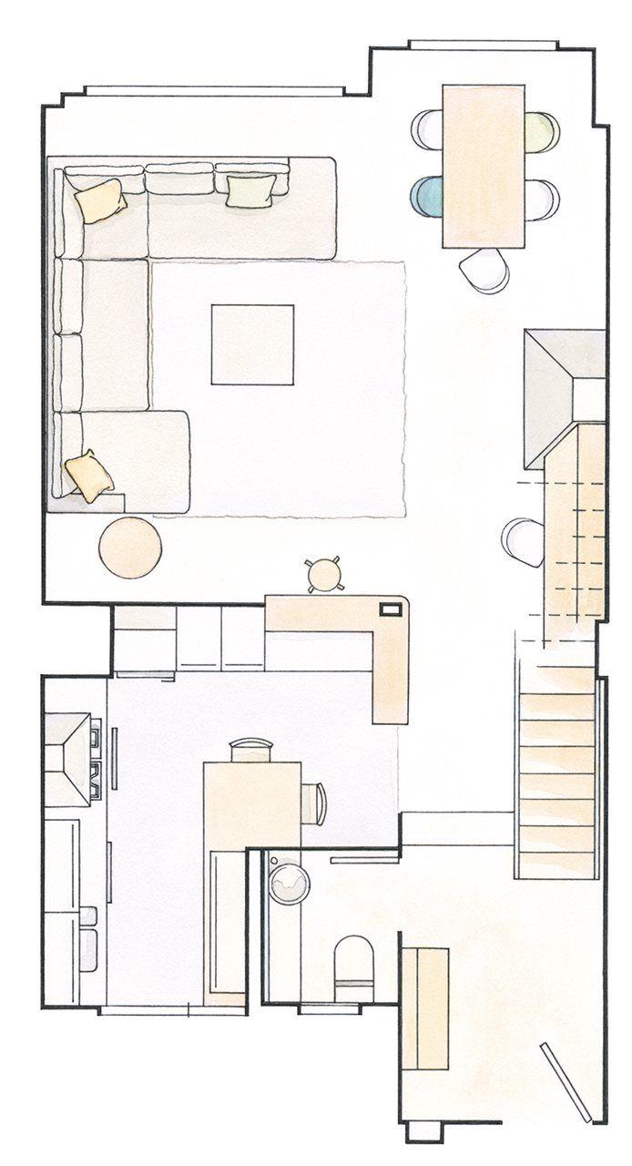 Trucos para ganar espacio en un piso de 80 metros cuadrados | Tiny ...