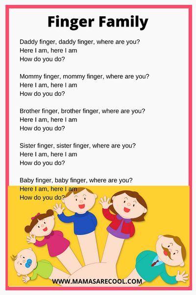 Finger Family Lyrics Video | Daddy Finger | Kids Songs