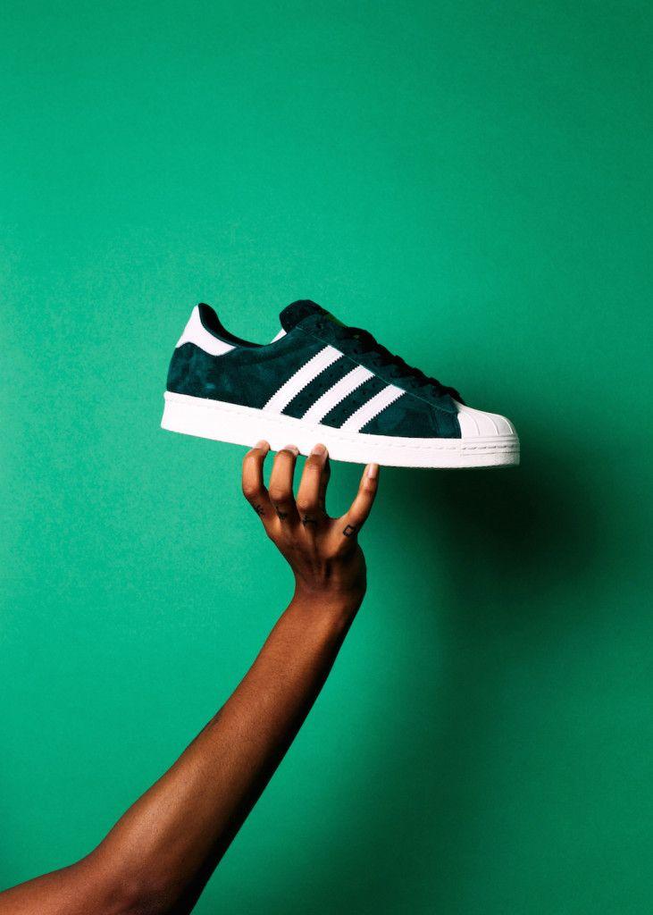 adidas originals superstar - green - suede classics pack 02