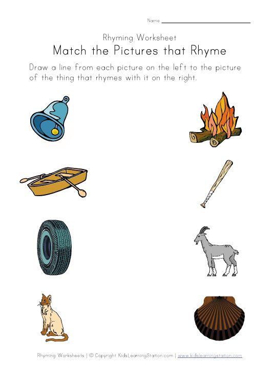 Rhyming Worksheets Phonics For Kids Rhyming Words Rhyming Words Worksheets Rhyming Worksheet