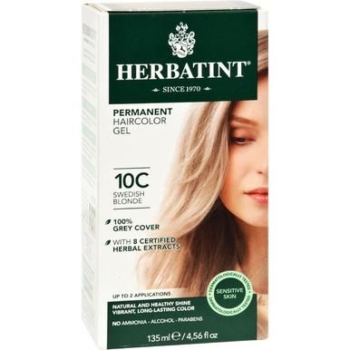 Herbatint Haircolor Kit Ash Swedish Blonde 10c - 1 Kit #lightashblonde