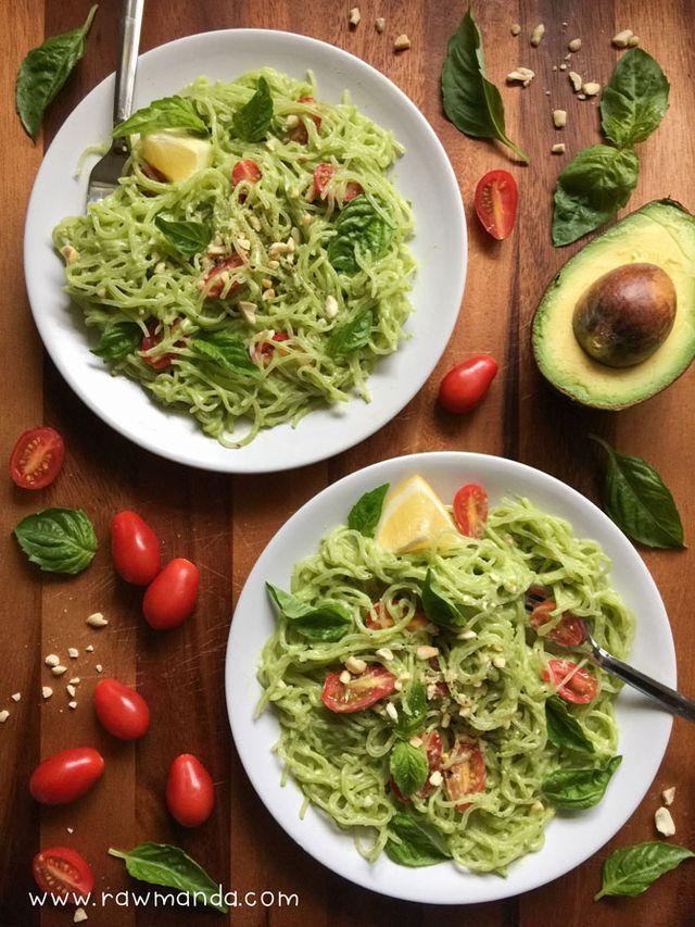 Creamy Avocado Basil Pesto | Raw Manda | Bloglovin'