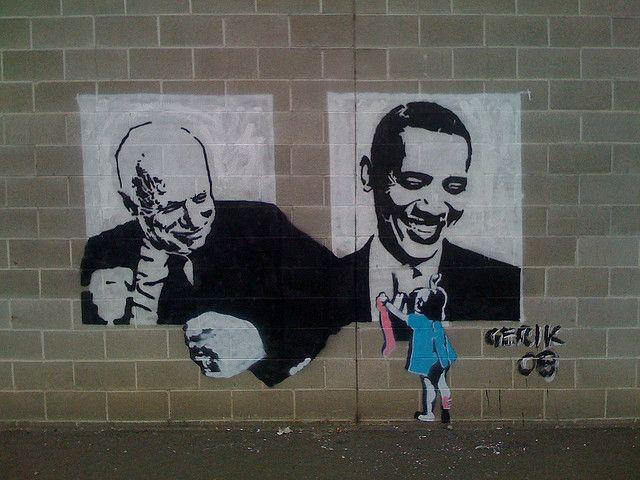 Political Graffiti In Spokane Political Artwork Street Art Banksy Banksy Art