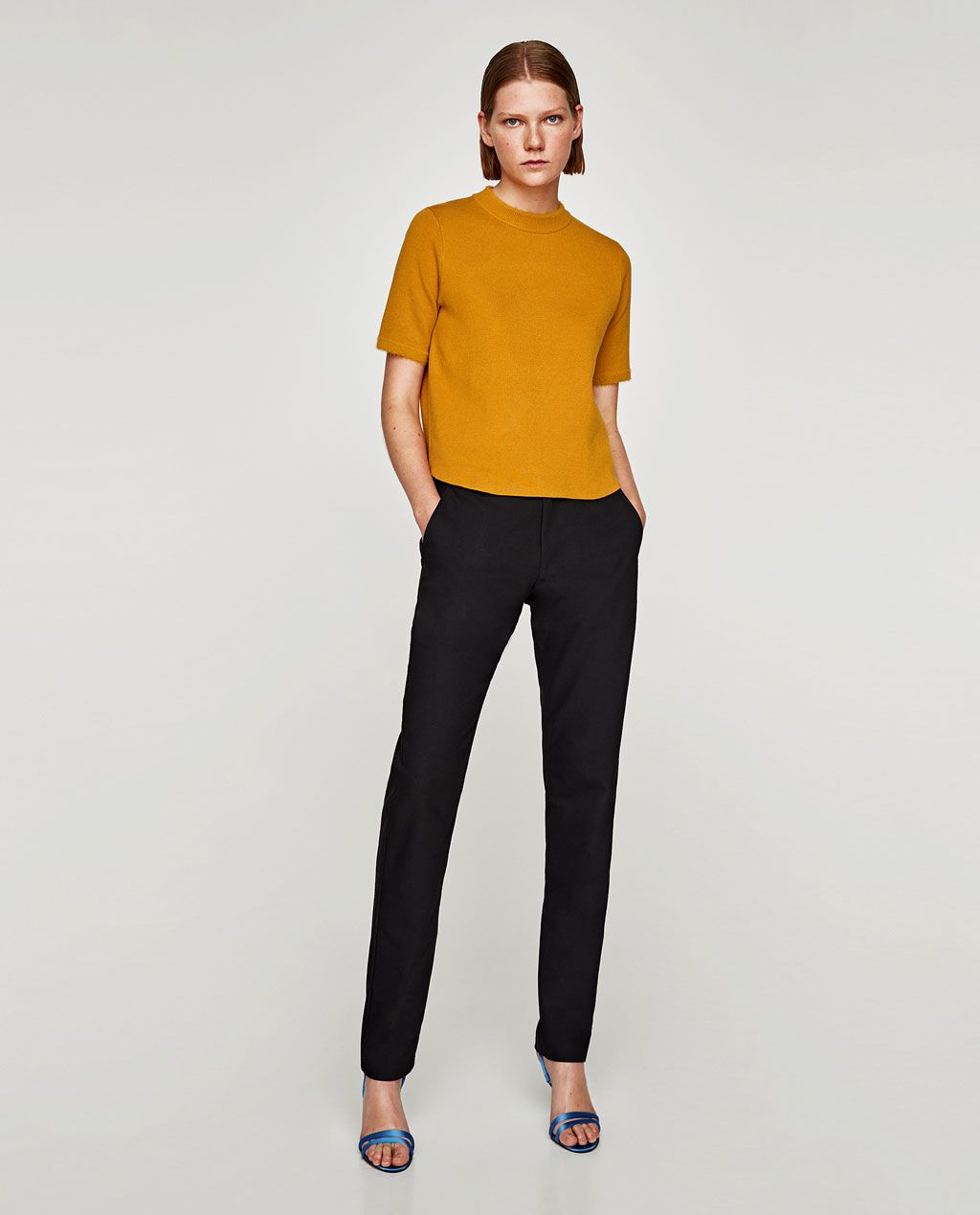 Image 1 of SHORT SLEEVE SWEATER from Zara | Fall17 Work ...