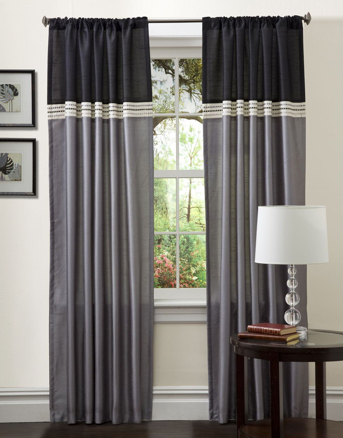 Creative ways to extend the length of your curtain panels: add color ...