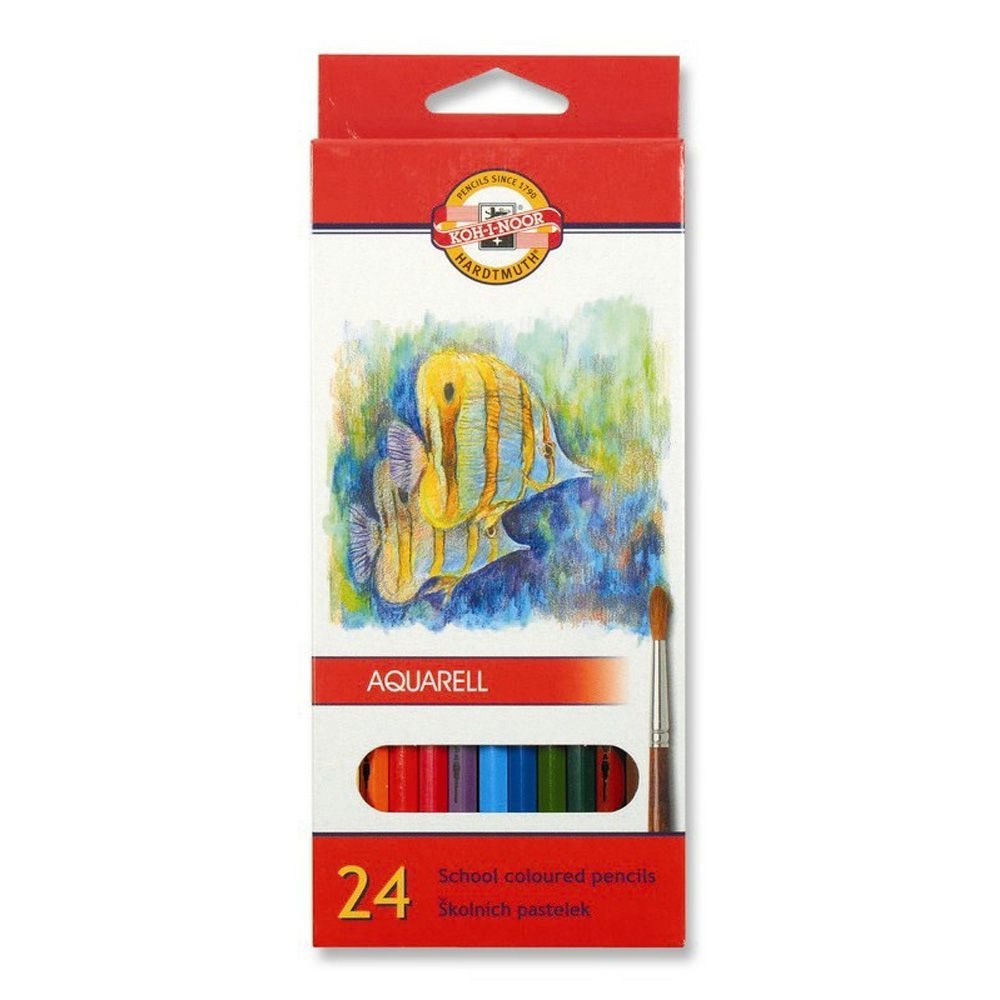 Koh-I-Noor 3715-3719 Aquarell School Watercolour Pencils 12 24 /& 36 6 18