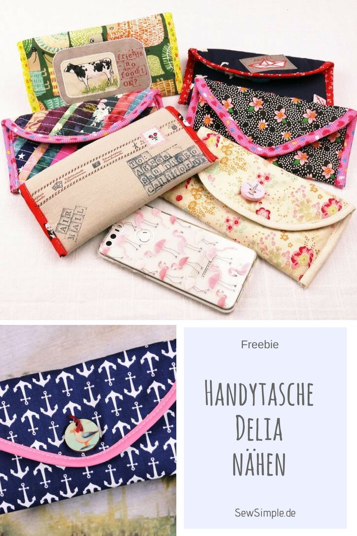 anleitung handytasche delia n hen sewing pinterest sewing ideas sewing projects and. Black Bedroom Furniture Sets. Home Design Ideas