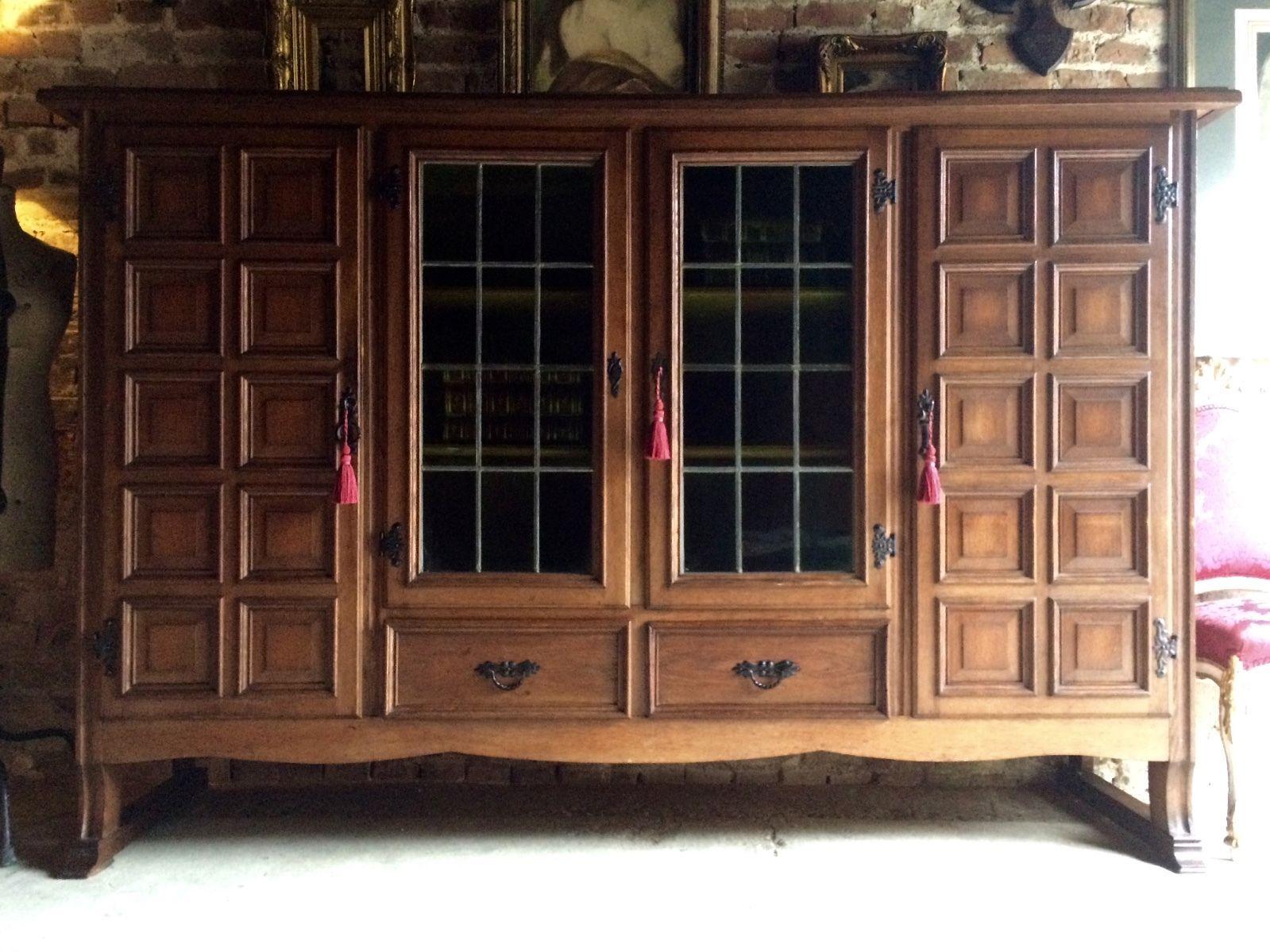Best Magnificent Large Mid Century Oak Cabinet Bookcase 400 x 300