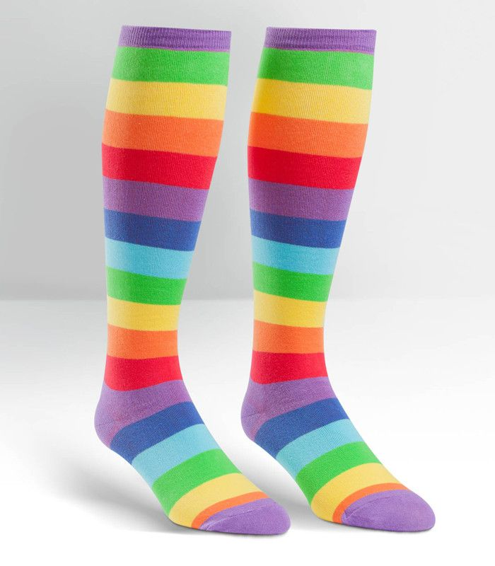 Rainbow Print Knee High Socks | The Atomic Boutique