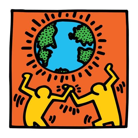 Untitled, (world) by Keith Haring by Keith Haring - Artwork