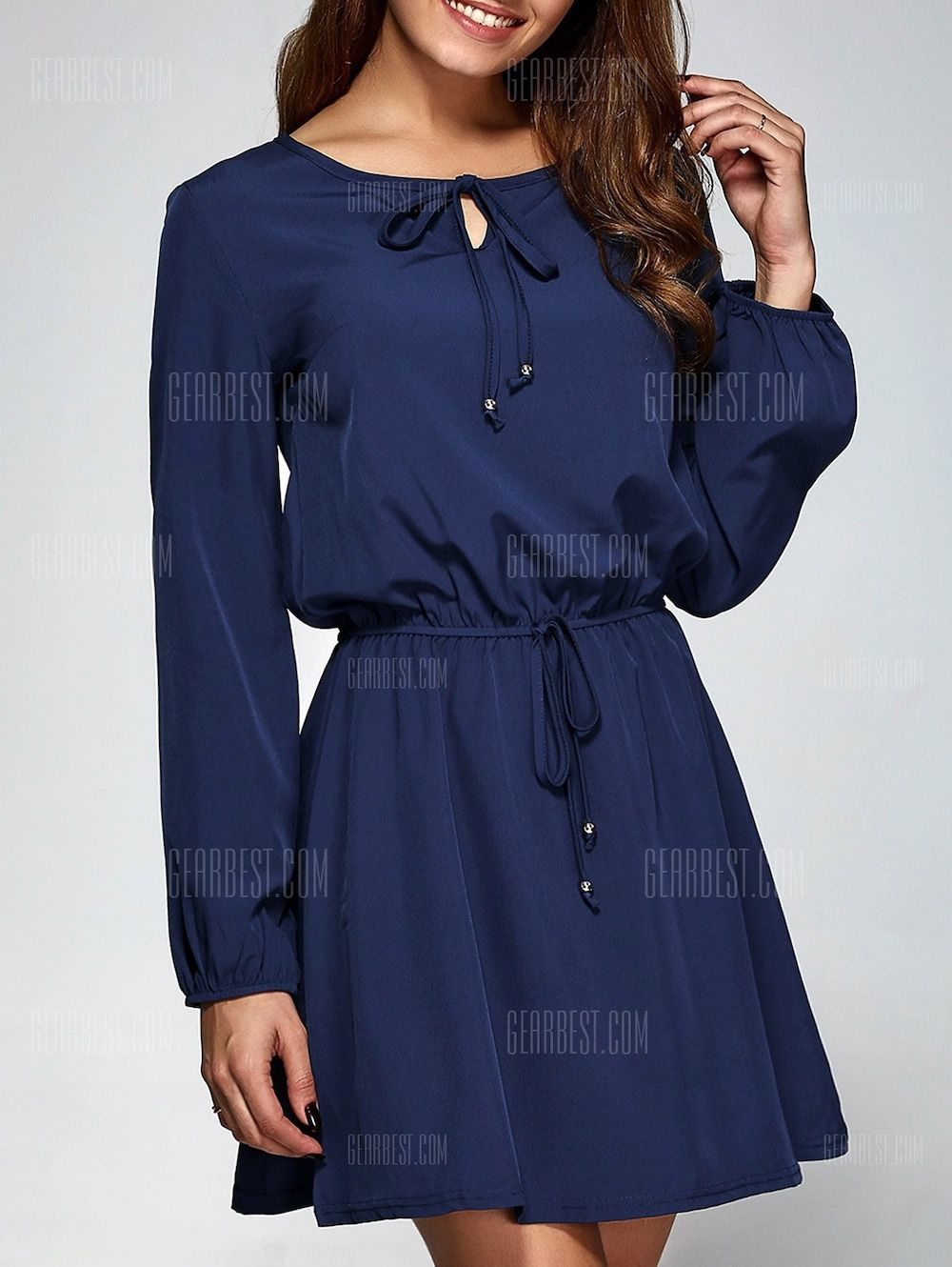 4a0f05a4241 Long Sleeve A-Line Dress