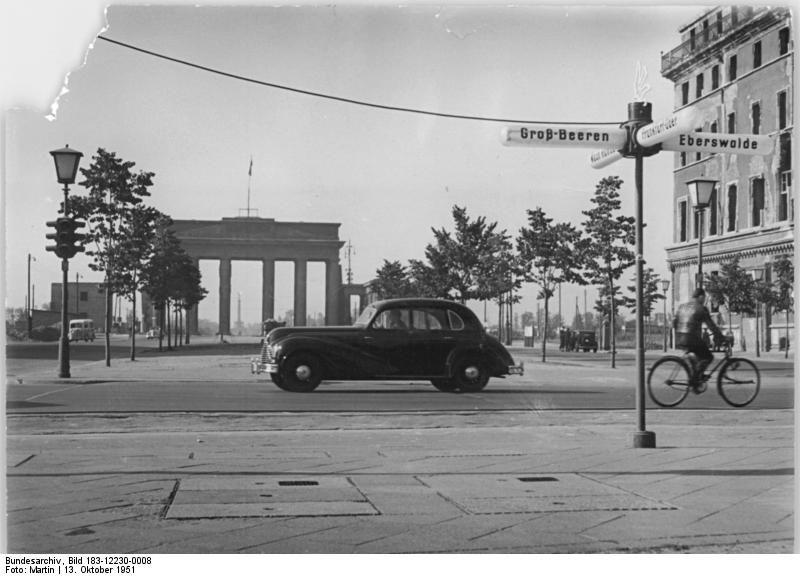 Berlin Unter Den Linden Brandenburger Tor 1951 East Berlin Berlin Germany