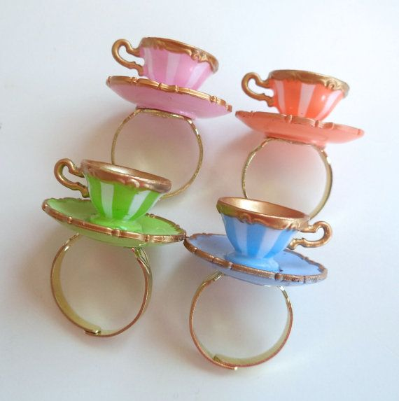 Alice in Wonderland Teacup Ring Your Choice by LoveYourBling