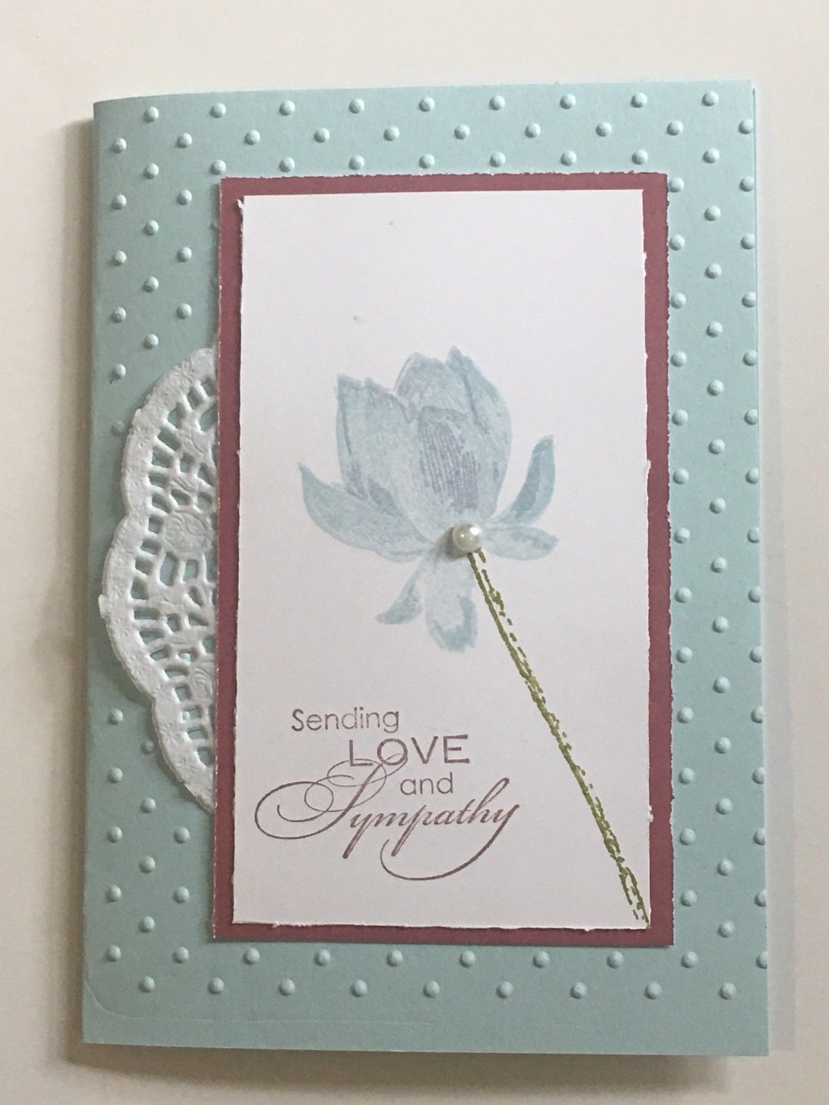 A Simply Elegant Sympathy Handmade Card Using Good Quality Stampin