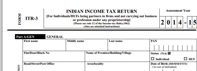 Instructions To Fill Itr How To Fill Itr Form  If Any