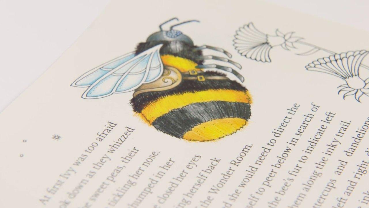Tutorial : How to Colour a Bumble Bee   johanna basford ...