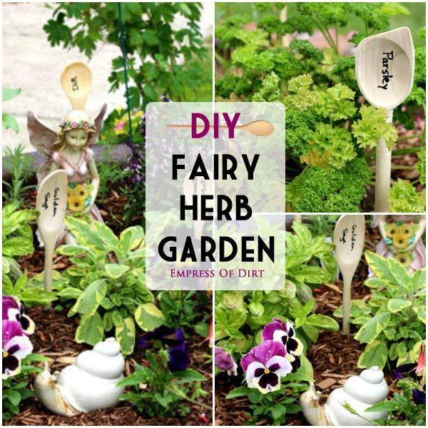 Diy Fairy Garden Ideas diy fairy herb garden | simple garden ideas, herbs garden and