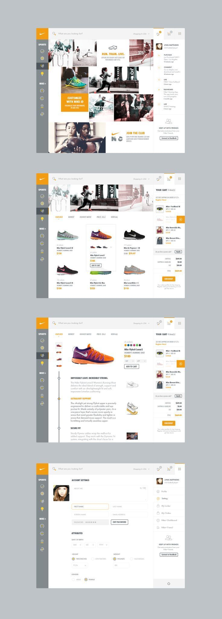 Web design inspiration look at these cool pins pinterest