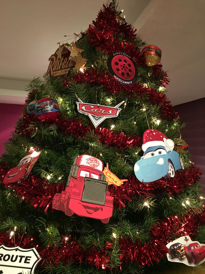 Disney Cars Christmas Decorations.Disney Cars Pixar Theme Christmas Christmas Trees For