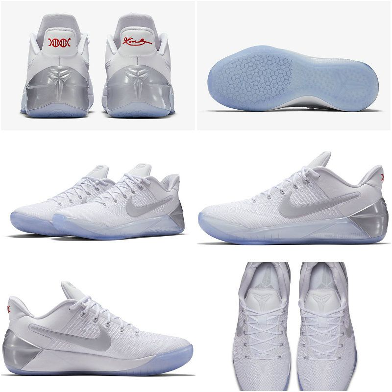 separation shoes ddf18 03814 New Arrival 2017 May Nike Kobe AD 852425-110 Chrome White Black White