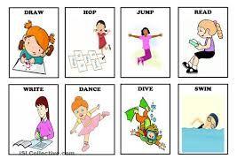 Resultado De Imagen De Action Verbs Flashcards Action Verbs Worksheet Action Verbs Verb Worksheets