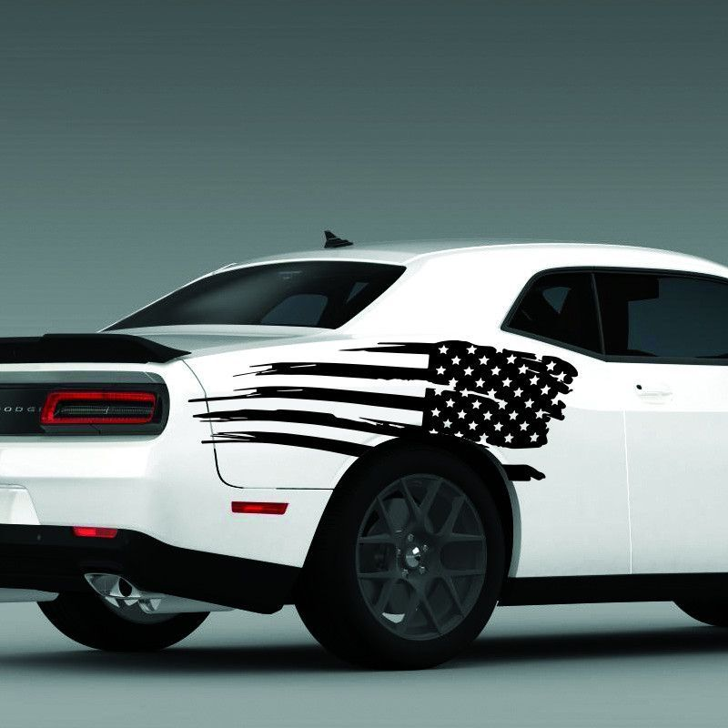 2011-2016 Dodge Challenger Distressed American USA Flag