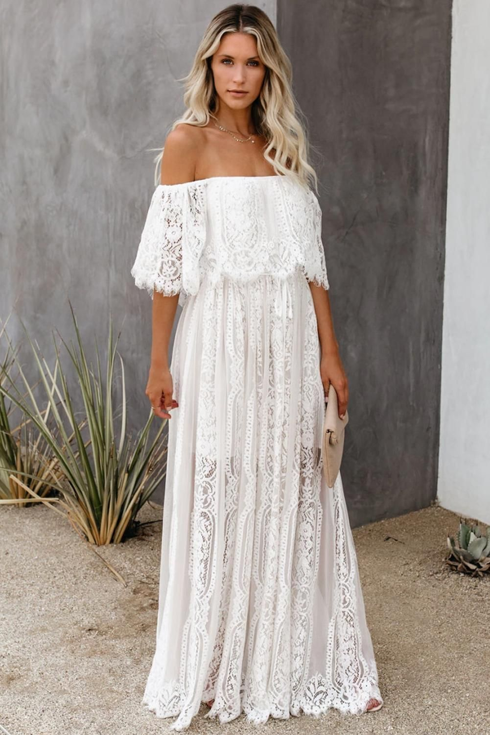 The Best Chapter Off The Shoulder Lace Maxi Dress White Lace Maxi Maxi Dress Lace White Dress [ 1500 x 1001 Pixel ]