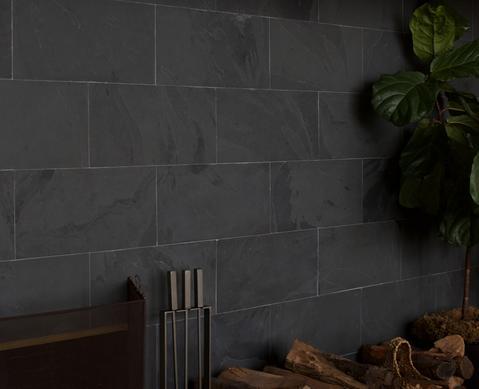 Slate Tiles Cle Tile Slate Tile Slate Fireplace Brick Fireplace Makeover