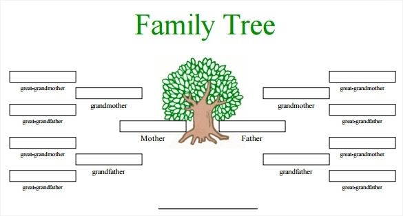 printable family tree maker template pinterest blank family