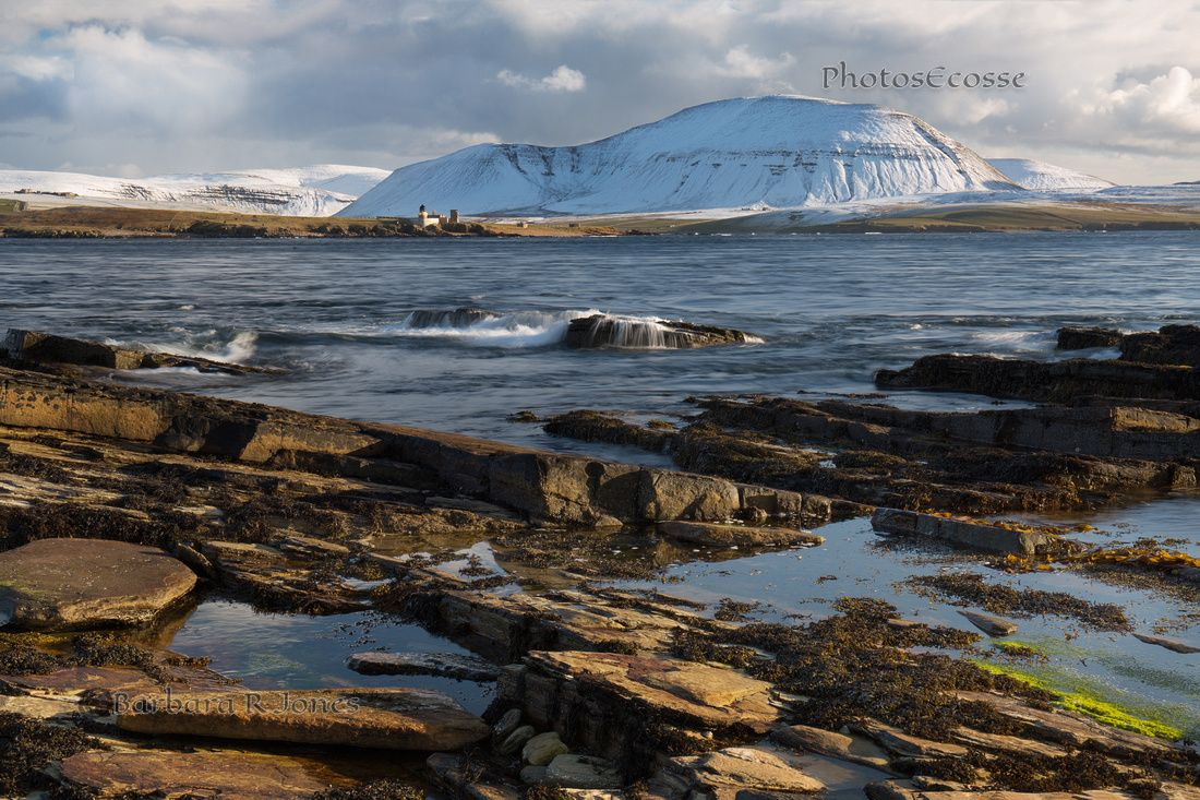 Hoy from Ness Point, Stromness. Graemsay and Ward Hill. Mainland Orkney. Scotland.