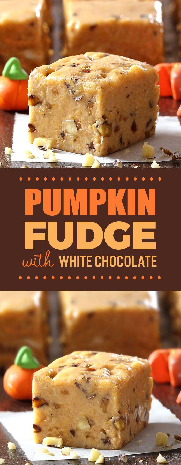 Pumpkin Pie Fudge #thanksgivingrecipes