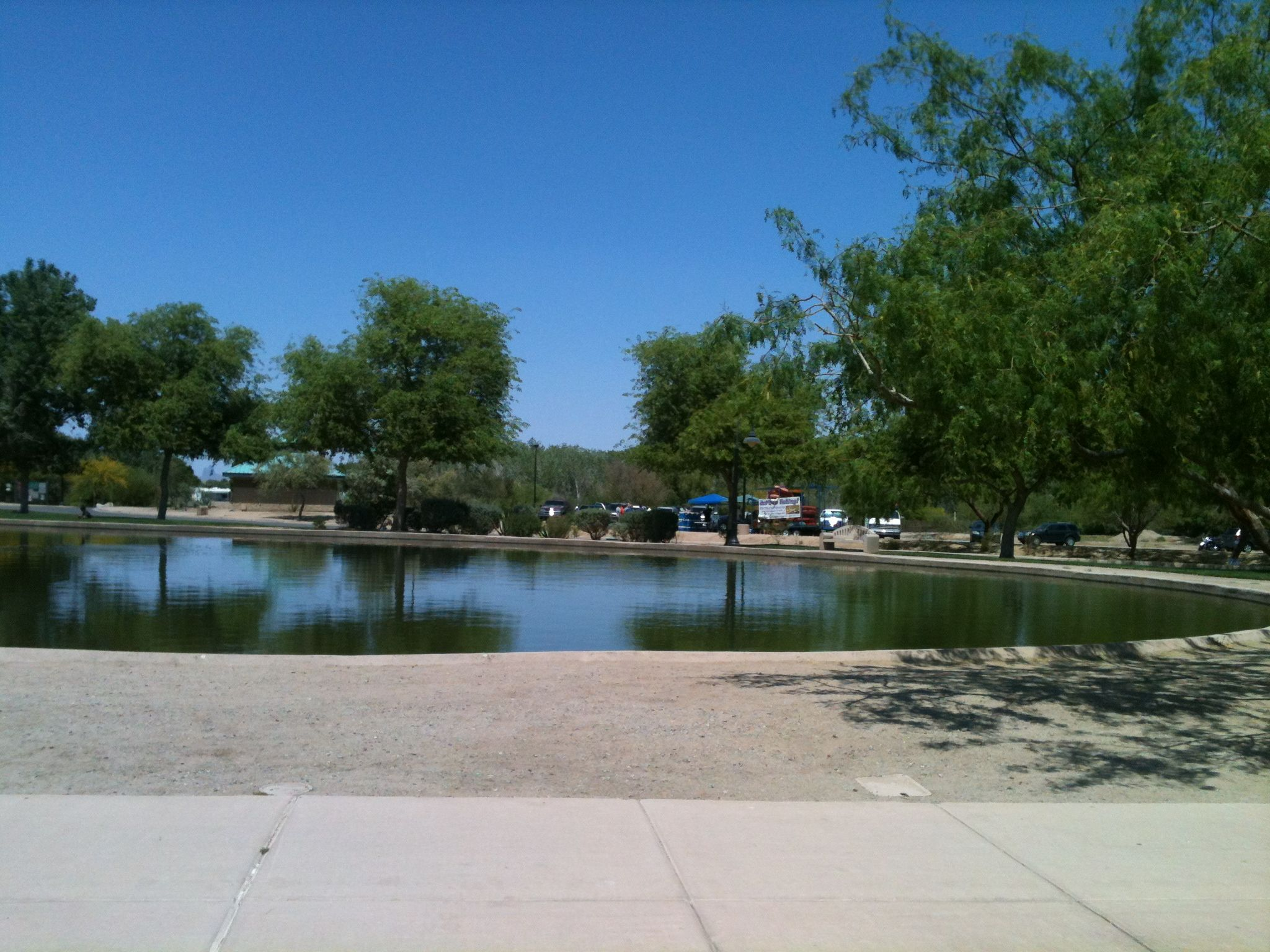 This is a stocked lake inside of the west wetland park for Best western coronado motor hotel yuma az